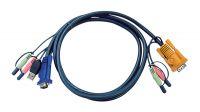Cable SPHD 15 M + Audio/Micro a VGA M + Audio/Micro + USB