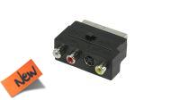 Adaptador audio y video RCA/S-Video a Euroconector