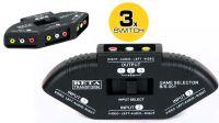 Data Switch de audio y video con 3 entradas y 1 salida