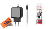 Cargador de Smartphone, Nintendo switch, Tablet 110-240V USB-C 2.4A en negro