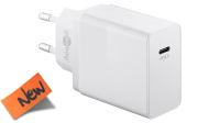 Cargador universal 110-240V 1x USB-C PD/3A Blanco