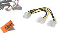 Cable adaptador 2 x Molex a PCI-E 6/8 pines