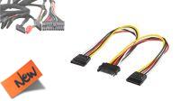 Cable interno de alimentación SATA 1 x Macho a 2 x Hembra 20cm