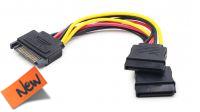 Cable de alimentación interna Sata 1 Macho a 2 Hembra 0.15cm