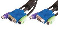 Cable de extensión 3 en 1 PS/2 M/H alta calidad