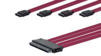 Cable interno SAS 32P SFF-8484 - 4xSATA 7P 0.50 m