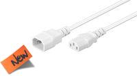 Cable de alimentación de extensión SFO M/H blanco