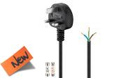 Cable de alimentación conector Reino Unido 5A sin terminación negro