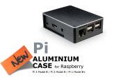 Caja en aluminio para Raspberry modelos Pi1B+,  2B, 3B negro