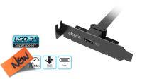 Cable Adaptador PCI bracket Low Profile Interno USB 3.1 Gen2 Conexión Motherboard