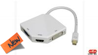 Adaptador mini DisplayPort a HDMI+DVI+VGA 1080P 4K por HDMI