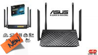 Router AP Wireless ASUS RT-AC1200G Plus Dual 300 a 867Mbps con 4 antenas 5dBi