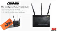 Router AP Wireless ASUS RT-AC68U Dual Band 1900Mbps USB con 3 antenas