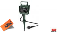 Regleta 2/4 tomas 16A 250V max. 3680W IP44 para colocación en jardín en verde 2m