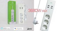 Regleta inteligente Schuko + USB Control voz Amazon Alexa Google Home