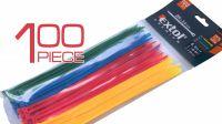 Conjunto de abrazaderas varios colores 100mm