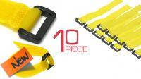 Abrazadera de velcro de 300x20mm en amarillo (10u.)
