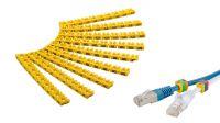 Marcador de cables Letras A a C amarillo (9u.)