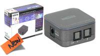 Divisor de audio digital Toslink 1 entrada para 2/4 salidas