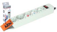 Regleta con protección de sobretensiones e interruptor gris 3 metros