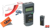 Tester digital de cables de red Cat5E, 6E coaxial y telefónico