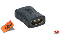 Adaptador HDMI H/H conector dorado
