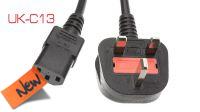 Cable de alimentación conector Reino Unido negro