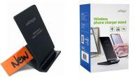 Cargador con soporte Wireless Qi 10W max negro