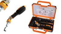 Kit de herramientas con llave giratoria inclinable y conjunto de puntas 69 piezas