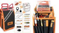 Bolsa con 3 compartimentos para herramientas negra