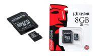 Tarjetas MicroSDHC Kingston con adaptador para SD