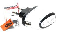 Cargador USB universal para smartphones y tablets blanco