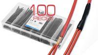 Kit tubos Termoretráctiles 100Pcs - Negro