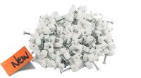 Kit Grapas Para Cable Redondo 3.5mm 100u. Blanco