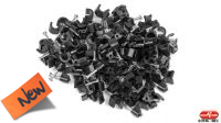 Kit Grampas Cable Redondo 5mm 100u. Negro