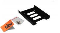 """Adaptador metálico montaje HDD/SSD 2.5/3.5"""" negro"""