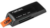 Lector Tarjetas NATEC Mini ANT 3 SDHC MMC M2 Micro SD USB 2.0 negro