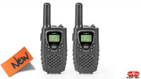 Walkie-Talkie rádio PMR 8Km 8 canales monitor LCD negro