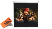 Tela 100x100 para proyector de video de 180x180cm utiles con soporte pared/tecto