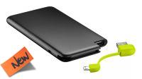 Powerbank USB con bateria 4000mAh USB micro B slim negro