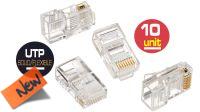 Conector RJ45 Cat. 5E UTP 10 unidades