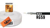 Bobina de cable coaxial RG 59 75Ohm PVC negro 100m