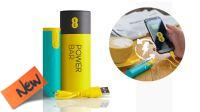 Powerbank USB batería 2600mAh verde y amarillo