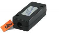 Caja de conexión para cable de red LSA+ negro