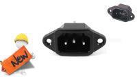 Conector alimentación panel/soldar SFO 230V Macho IEC C14