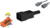 Conector IEC plug C20 16A negro