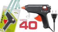 Kit con pistola de cola caliente 40W