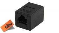 Adaptador en linea 1:1 RJ45 negro