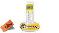 Teléfono inalámbrico Logicom Soly 150 NY Art blanco/amarillo