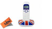 Teléfoni inalámbrico Logicom Soly 150 UK Art blanco/azul